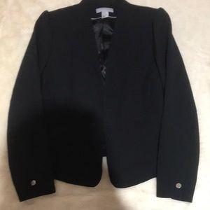 H & M Black Suit Jacket W Design Size 14